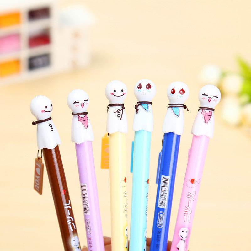 Cute Face 6 Pen Set