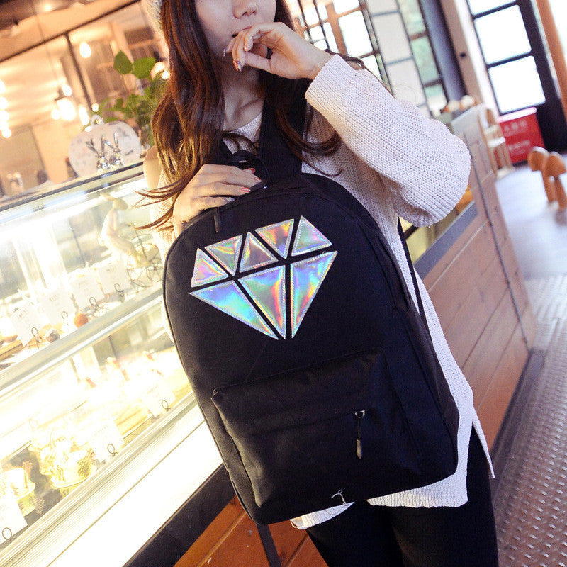 Holographic Diamond Backpack