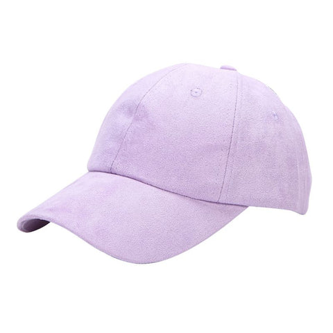 Pastel Color Suede Baseball Cap