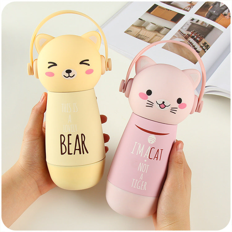 Kawaii Cat Travel Thermos Bottle