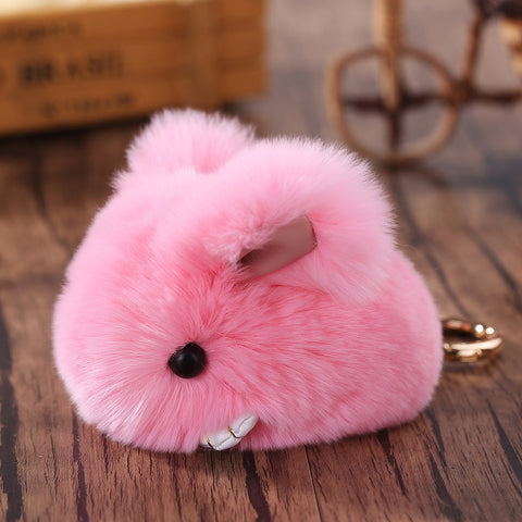 Plush Rabbit Keychain