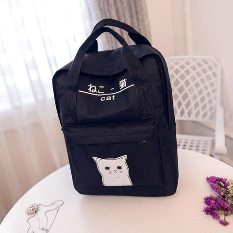 Japanese Cat Harajuku Backpack