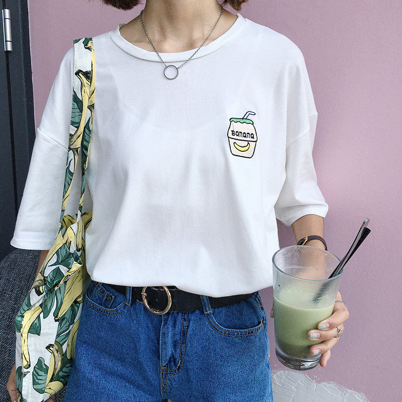 Kawaii Banana Milk T-Shirt