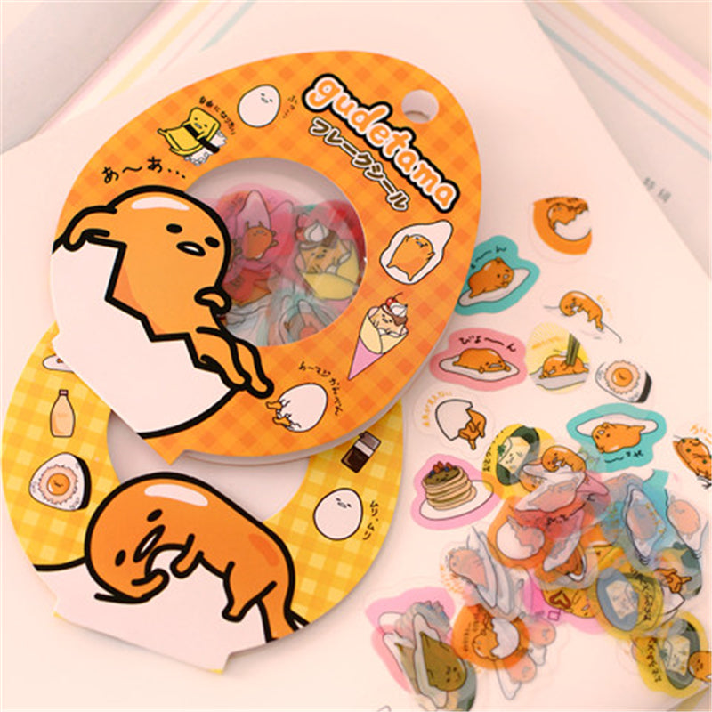Kawaii Sanrio Gudetama Eggs 60-Piece Stickers