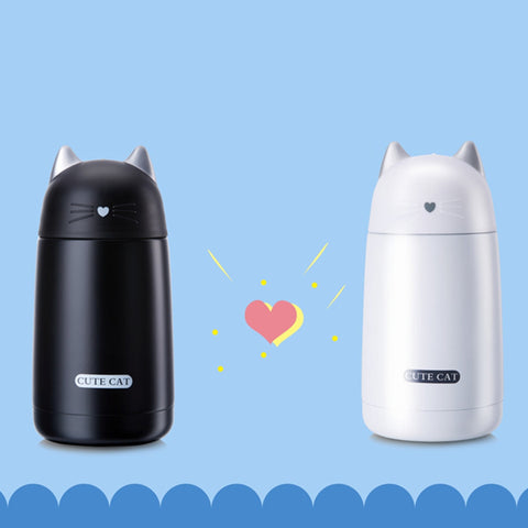 Cute Cat Leak-Proof Thermo Bottle