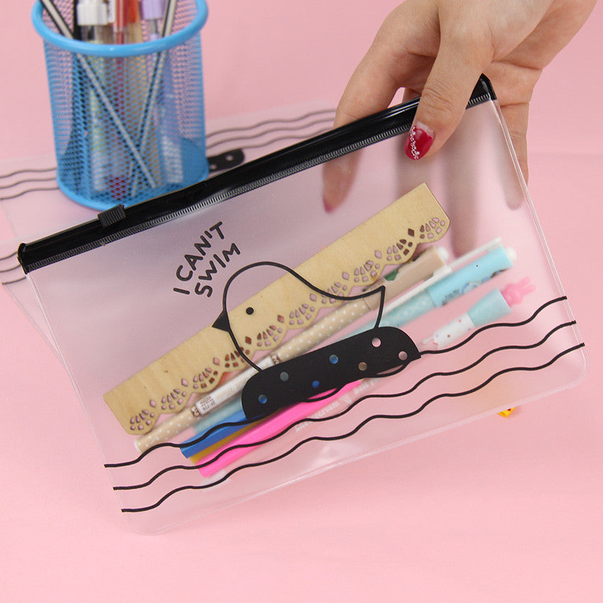 2PCS Kawaii Clear Pencil Case