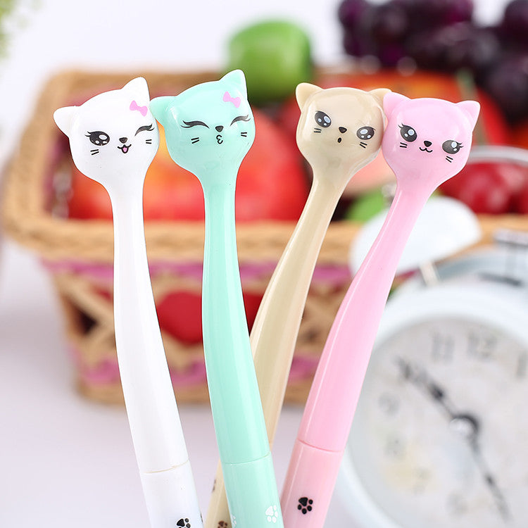 4 Pcs Cat Pens With Cute Expression