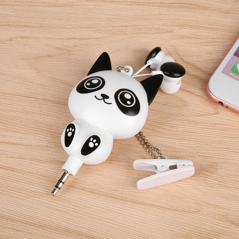 Cute Panda Headphone Earbuds
