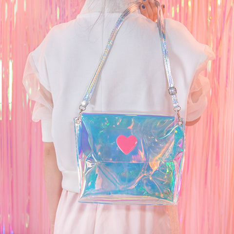 Hologram Heart Shoulder Bag