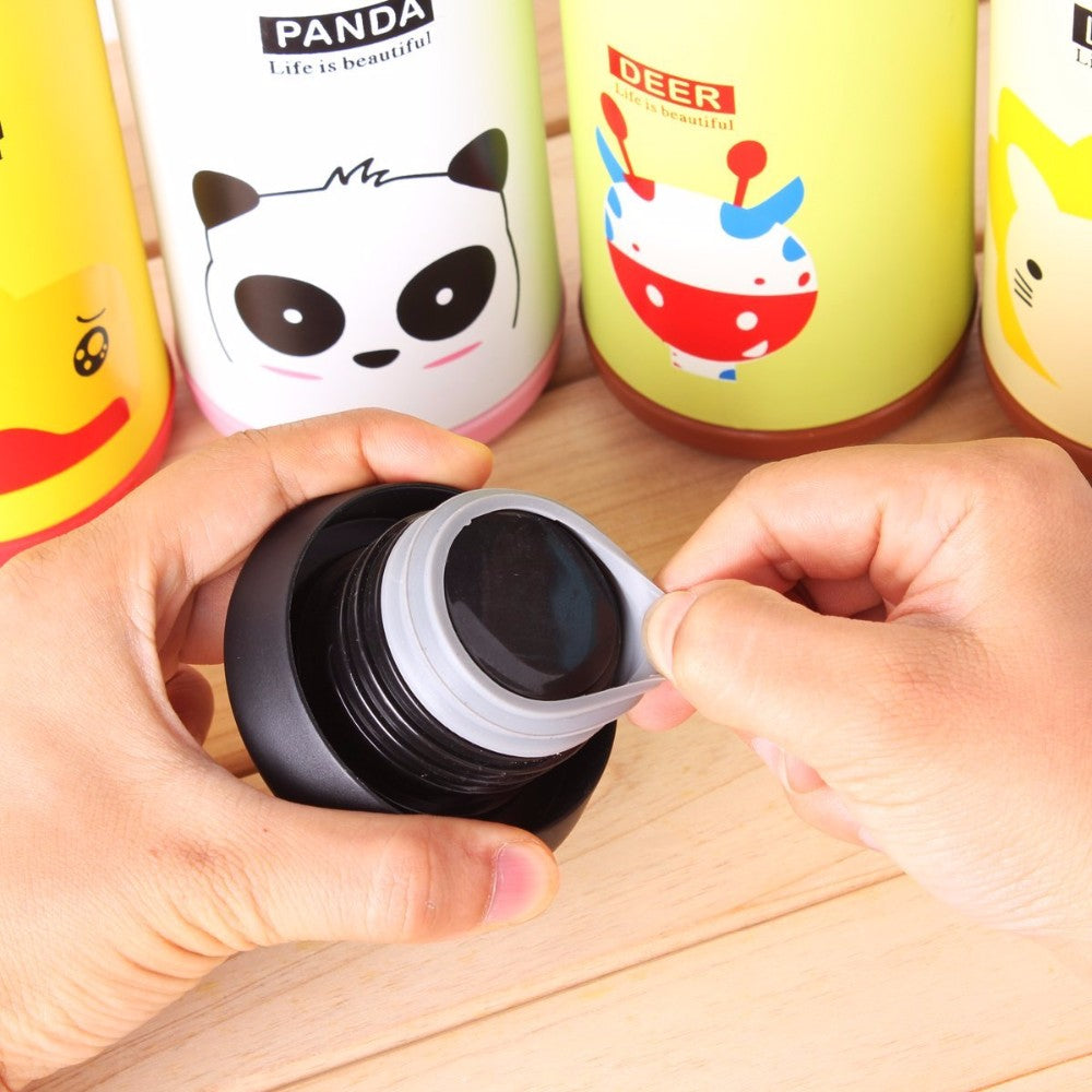 Panda Stainless Steel Thermos Bottle