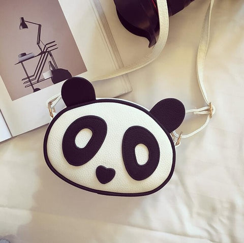 Cute Panda Leather Bag
