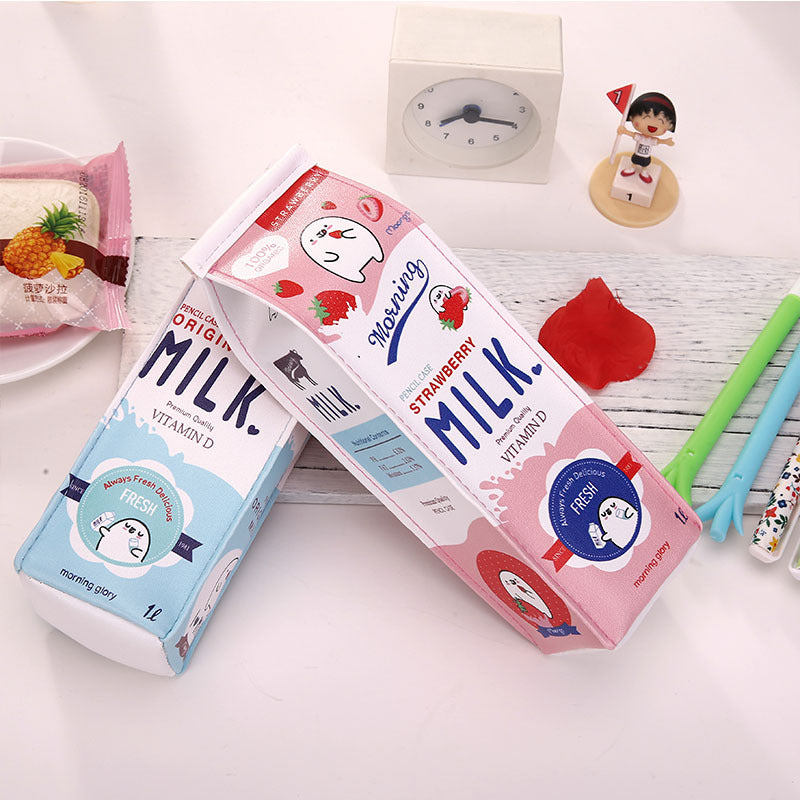 Kawaii Morning Milk Pencil Case