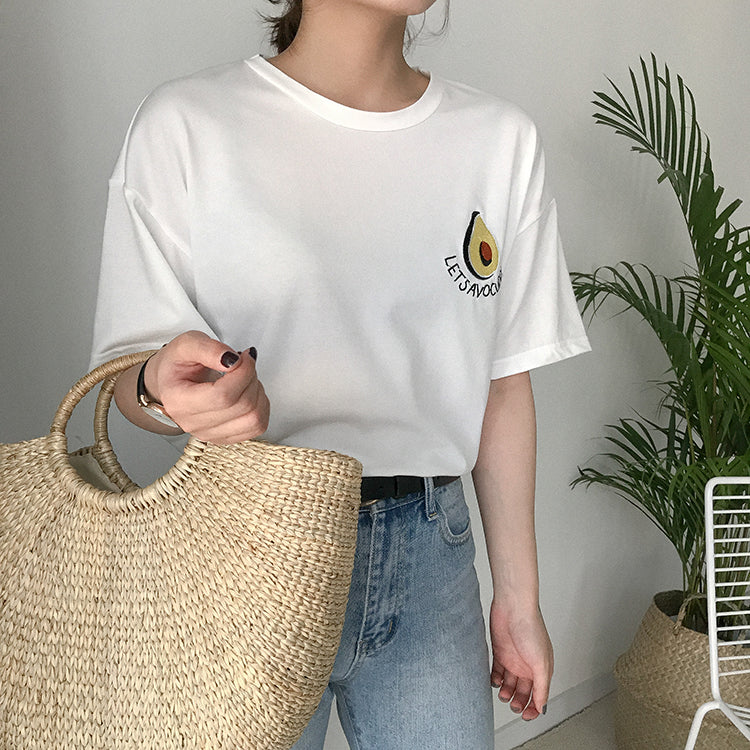 Embroided Advocado T-shirt