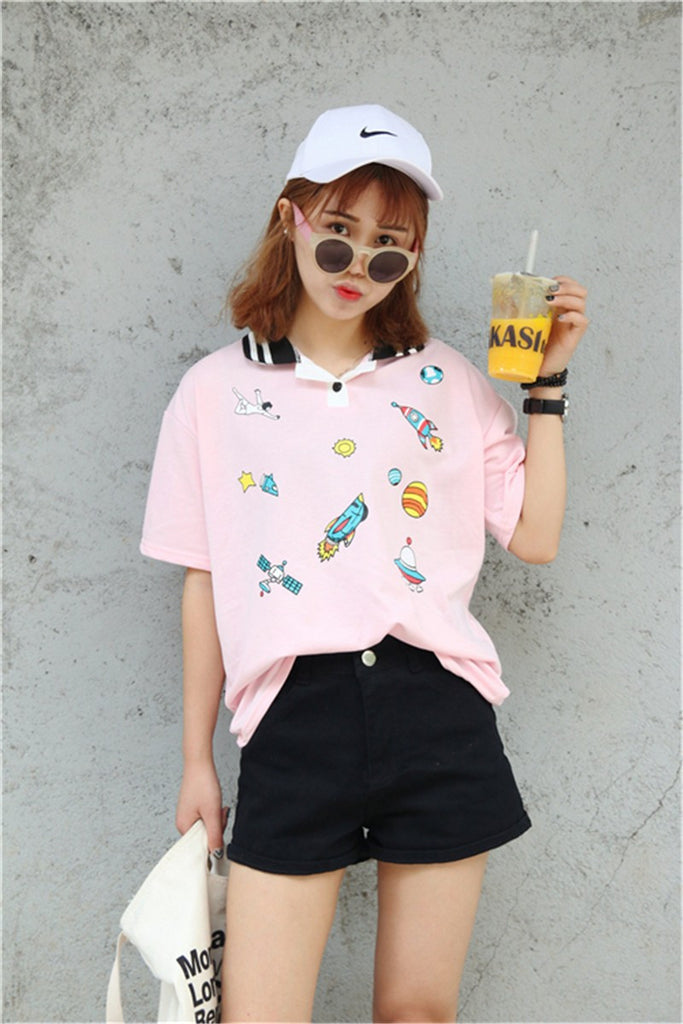 Harajuku Cartoon T-shirt