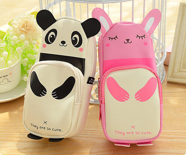 Kawaii Panda & Rabbit Pencil Case