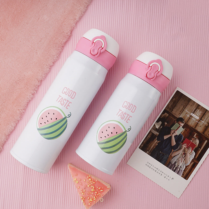Kawaii Stainless Steel Vacuum Insulated Water Bottle