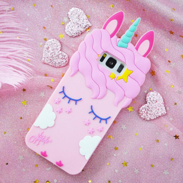 3D Unicorn Samsung Phone Case