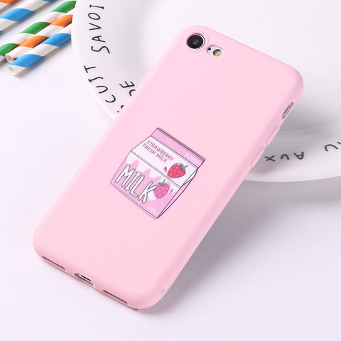 Pink Milky Drink Case iPhone Case