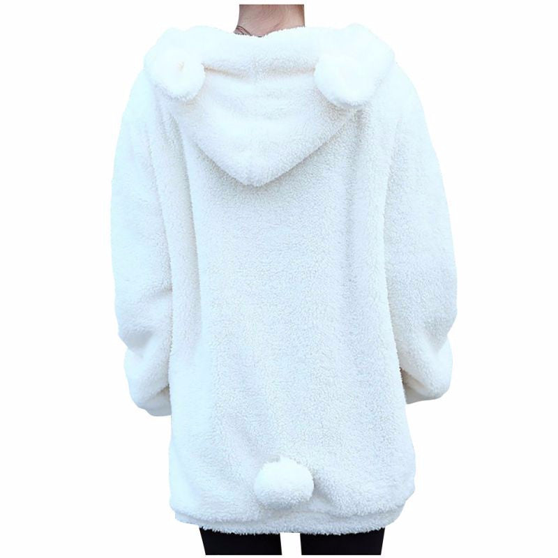 Fluffy Bear with Ears Hoodie