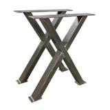 Metal X leg for a dining table