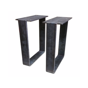 Industrial style steel bench legs for dining table bench