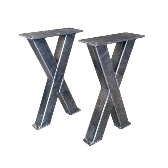 Metal Bench Legs - 2x2 Tubing, Custom Made Box Legs, Steel Table, Barn Wood, Butcher Block, Industrial