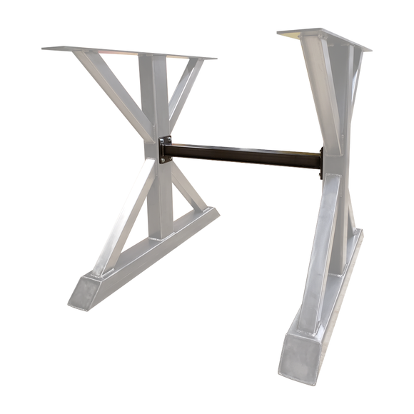 center leg middle height cross bar support stabilizer for table legs