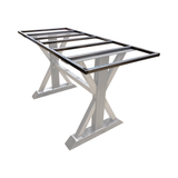 Steel trestle legs sub frame to support granite, quartz, marble or any stone table top