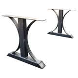 metal trestle dining table legs