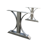 Steel dining table base