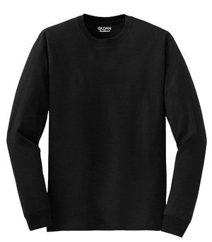 8400 Gildan 50/50 Long Sleeve Tee - black
