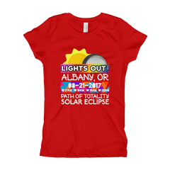 Girls - Albany OR - Solar Eclipse Short Sleeve T-Shirt: