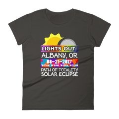 Women's - Albany OR - Solar Eclipse Short Sleeve T-Shirt: