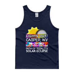Men's - Casper WY - Solar Eclipse Tank Top: