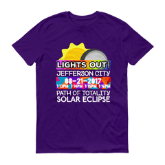 Men's - Jefferson City MO - Solar Eclipse Short Sleeve T-Shirt: