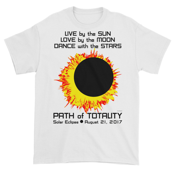 Men's Solar Eclipse Short Sleeve T-Shirt - Sun Moon Dance - Live Love Dance Path of Totality August 21, 2017
