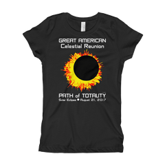 Girls Solar Eclipse Princess T-Shirt - Sun Moon Dance -Great American Celestial Reunion - Path of Totality August 21, 2017