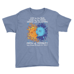 Boys Solar Eclipse Short Sleeve T-Shirt - Antony & Cleopatra - Live Love Dance Path of Totality August 21, 2017