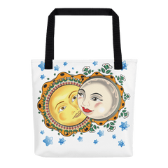 Solar Eclipse Tote Bag - Romeo & Juliet - Path of Totality August 21, 2017