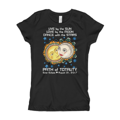 Girls Solar Eclipse Princess T Shirt - Romeo & Juliet - Live Love Dance Path of Totality August 21, 2017
