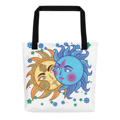 Solar Eclipse Tote Bag - Paris & Helen - Path of Totality August 21, 2017