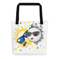 Solar Eclipse Tote Bag - Bonnie & Clyde - Path of Totality August 21, 2017