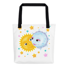 Solar Eclipse Tote Bag - Kristoff & Anna - Path of Totality August 21, 2017