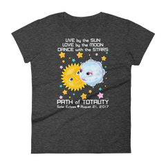 Women's Solar Eclipse Short Sleeve T-Shirt - Kristoff & Anna - Live Love Dance - Path of Totality August 21, 2017