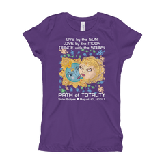 Girls Solar Eclipse Princess T Shirt - Krishna & Radha - Live Love Dance Path of Totality August 21, 2017