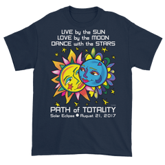 Men's Solar Eclipse Short Sleeve T-Shirt - Tarzan & Jane - Live Love Dance Path of Totality August 21, 2017