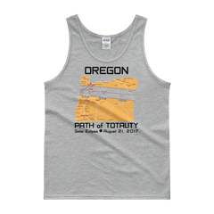 "Men's Tank Top:""Oregon"" PATH of TOTALITY Solar Eclipse August 21, 2017"