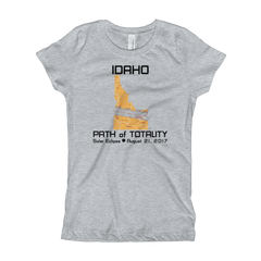 Girls Solar Eclipse Princess T-Shirt - Idaho - Path of Totality August 21, 2017