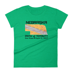 Women's Solar Eclipse Short Sleeve T-Shirt - Nebraska - Path of Totality August 21, 2017