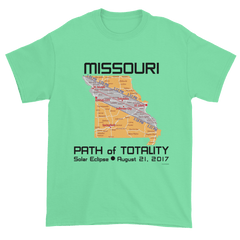 Men's Solar Eclipse Short Sleeve T-Shirt - Missouri - Path of Totality August 21, 2017